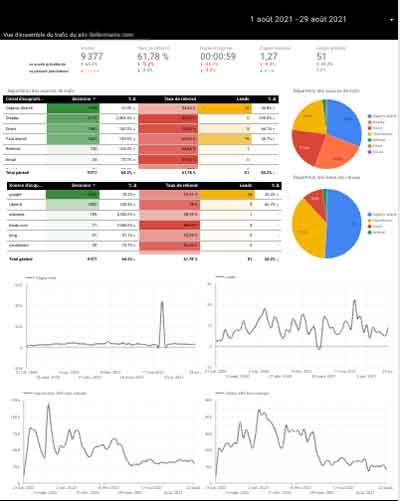 Google Data Studio Analyse du trafic web